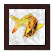 All My Walls 'Yellow Koi Fish' by Stephanie Kriza Painting Print Plaque