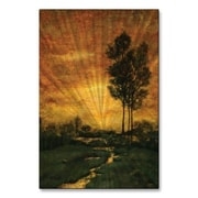 All My Walls 'Luminous Creek' by Tina Chaden Painting Print Plaque