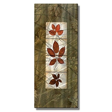 All My Walls 'Leaf Tile Panel 1' by Tina Chaden Painting Print Plaque