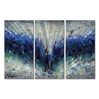 All My Walls 'Seeing This Way III' by Alexis 3 Piece Painting Print Plaque Set
