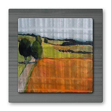 All My Walls 'Road Through Field' by Janet Dyer Painting Print Plaque