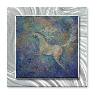 All My Walls 'Crystal Horse' by Diana Lancaster Painting Print Plaque