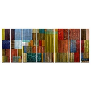 All My Walls 'Pieces IV' by Michelle Calkins 7 Piece Graphic Art Plaque Set