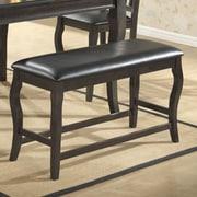 Milton Green Star Burgos Upholstered Bench; Gray