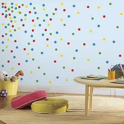 Room Mates Primary Confetti Dots Wall Decal
