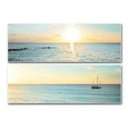 PTM Images Bimini Horizon Box 2 Piece Photographic Print on Laminate Set