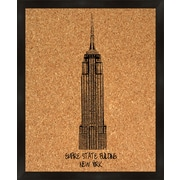 PTM Images Empire State Building Framed Bulletin Board
