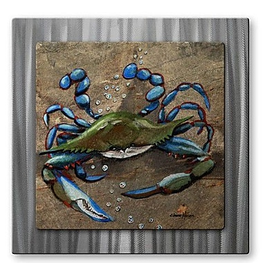All My Walls 'Crab Blue Slate' by Elaine Hodges Painting Print Plaque