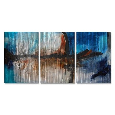 All My Walls 'Get into the Vortex' by Andrada Anghel 3 Piece Painting Print Plaque Set