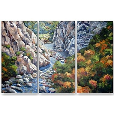 All My Walls 'Canyon' by Ingrid Dohm 3 Piece Painting Print Plaque Set