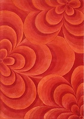 James Bond Alliyah Flowers Red Area Rug
