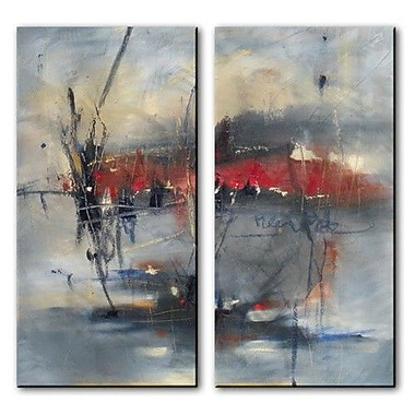 All My Walls 'Bare Winter' by Cynthia Ligeros 2 Piece Painting Print Plaque Set