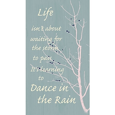 PTM Images Dance in the Rain Textual Art on Wrapped Canvas