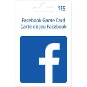 Facebook – Carte-cadeau de 15 $