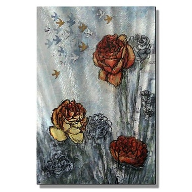 All My Walls 'Songbirds Pass the Garden' by Christina Loraine Painting Print Plaque