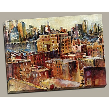 Portfolio Canvas ''Urban Heights'' Painting Print on Wrapped Canvas