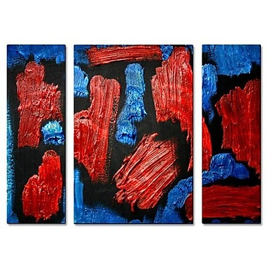 All My Walls 'Colors in Oil' by Allyson Kitts 3 Piece Painting Print Plaque Set
