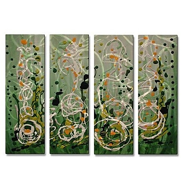 All My Walls 'Symphonius' by Holly Carmichael 4 Piece Painting Print Plaque Set