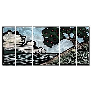 All My Walls 'Apple Tree' by John Schirmer 5 Piece Painting Print Plaque Set