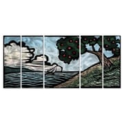 All My Walls 'Apple Tree' by John Schirmer 5 Piece Painting Print Plaque Set