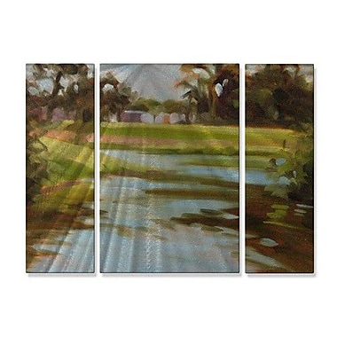 All My Walls 'Estuary' by M J Studios 3 Piece Painting Print Plaque Set