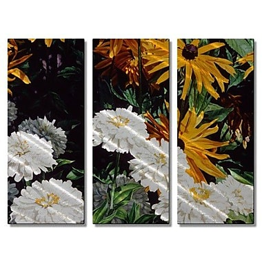 All My Walls 'Black-eyed Susans' by M J Studios 3 Piece Graphic Art Plaque Set