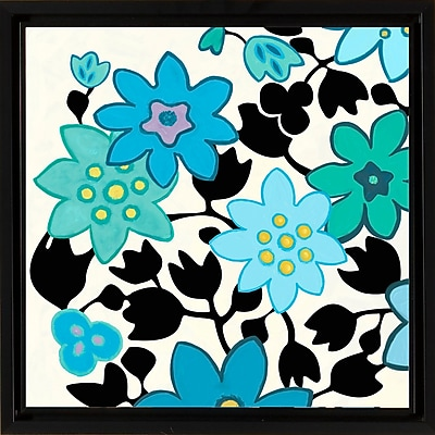PTM Images Blue Flowers II Gicl e Framed Graphic Art