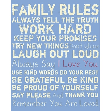 PTM Images Family Rules Gicl e Textual Art on Wrapped Canvas
