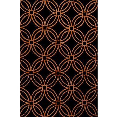 James Bond Alliyah Black/Orange Area Rug; 8' x 10'