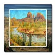 All My Walls 'Sedone Arizona' by Jerome Stumphauzer Painting Print Plaque
