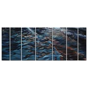 All My Walls 'Venice' by Jennifer Lycke 7 Piece Painting Print Plaque Set