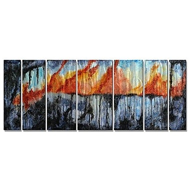 All My Walls 'Precambrian' by Melissa Sherowski 7 Piece Painting Print Plaque Set