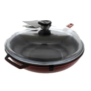 Chasseur 11'' Frying Pan w/ Lid; Red