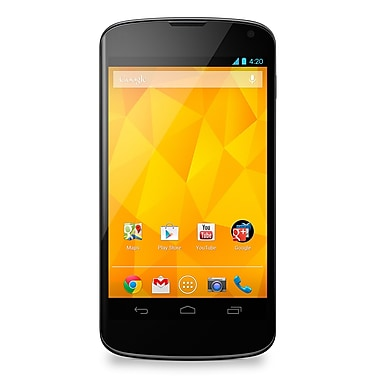 LG Nexus 4 (E960) Factory Unlocked Smartphone, Black, Refurbished, English