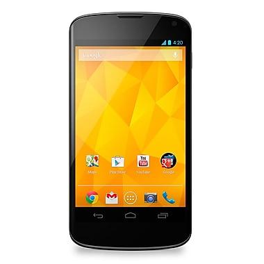 LG - Téléphone intelligent Nexus 4 (E960) déverrouillé en usine, noir, remis à neuf, anglais