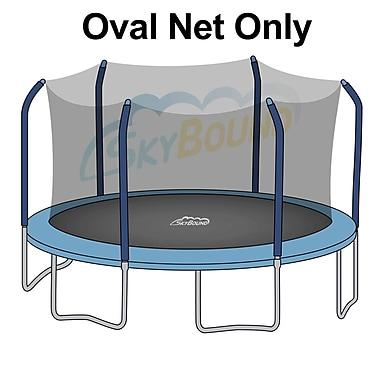 SKYBOUND 17' Oval Trampoline Net Using 6 Poles