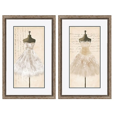 PTM Images Elegante and Tres 2 Piece Framed Graphic Art Set