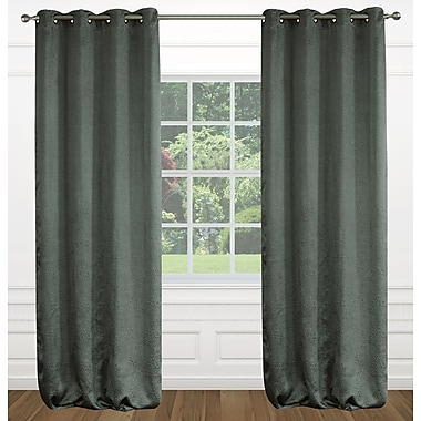 LJ Home Raindrops Abstract Geometric Floral Grommet Panel Pair (Set of 2); Taupe