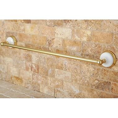 Kingston Brass Victorian 18'' Wall Mounted Towel Bar; Polished Brass