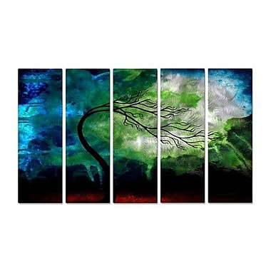 All My Walls 'The Beauty at the End' by Jaime Zatloukal Best 5 Piece Painting Print Plaque Set