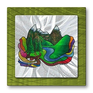 All My Walls 'Rainbow River' by Steven Weber Painting Print Plaque