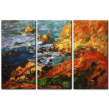 All My Walls 'California Coast' by Brian Simons 3 Piece Painting Print Plaque Set