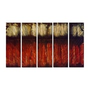 All My Walls 'On the Horizon' by Roger Silva 5 Piece Painting Print Plaque Set