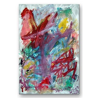All My Walls 'Abstract Composition' by Mike Henderson Painting Print Plaque