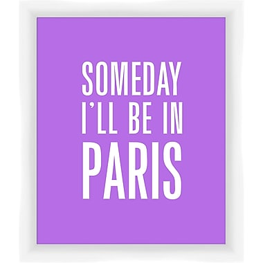 PTM Images Someday I'll be in Paris Gicl e Framed Textual Art in Purple