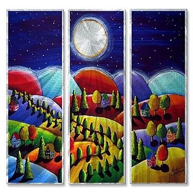 All My Walls 'Peace on Earth 2' by Renie Britenbucher 3 Piece Graphic Art Plaque Set