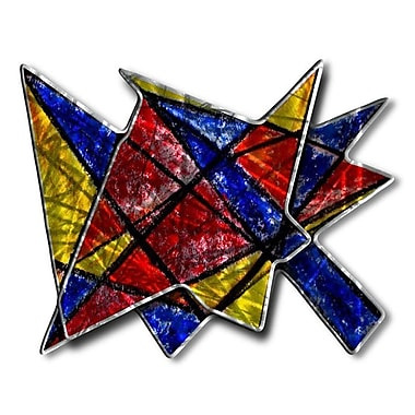 All My Walls 'Acute Angles' by Ash Carl Designs Painting Print Plaque