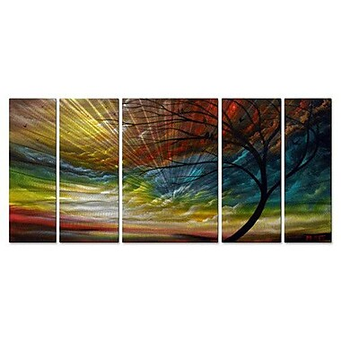 All My Walls 'Sweet Summer Song' by Matthew Hamblen 5 Piece Painting Print Plaque Set