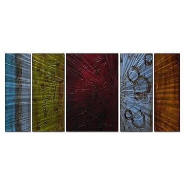All My Walls 'Color Burst' by Stacy Hollinger 5 Piece Painting Print Plaque Set