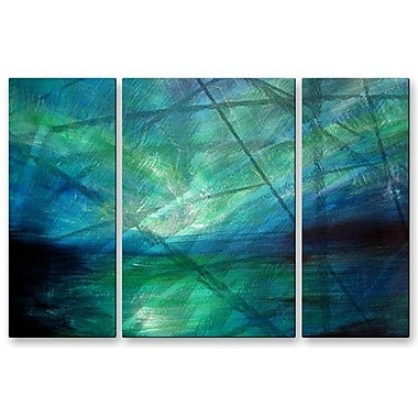 All My Walls 'Sea Of Aurora' by Michael Grubb 3 Piece Graphic Art Plaque Set